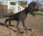 Barb Wire Dog Full Body