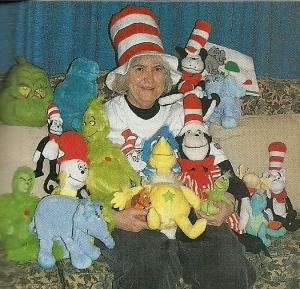 Mom with Dr Seuss